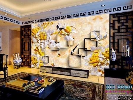Tranh dán tường 3D D3D2010