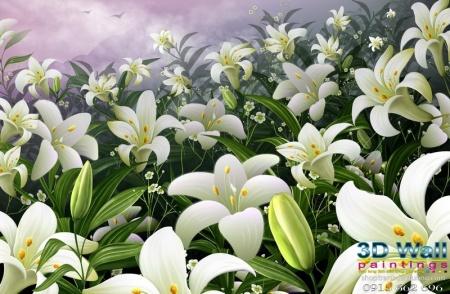 Tranh dán tường hoa lá DHL2067