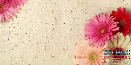 Tranh dán tường hoa lá DHL2071