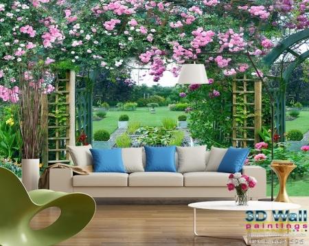 Tranh dán tường hoa lá DHL2072-1